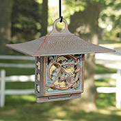 Oak Leaf Suet Bird Feeder, Copper Verdigris