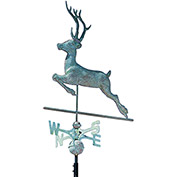 Copper Deer Weathervane, Verdigris