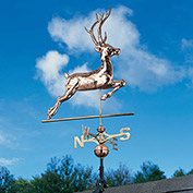 Copper Deer Weathervane, Polished
