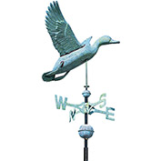 Copper Duck Weathervane, Verdigris
