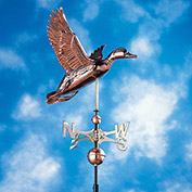 Copper Duck Weathervane, Polished