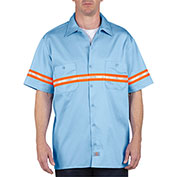 Dickies Work Shirt VS101LB, Non-ANSI, Light Blue, Size 4X