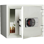 "Wilson Safe Pharmacy Safe 119DRUG Electronic Lock 16-1/4""W x 14-5/16""D x 14-3/16""H, White"