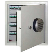 "Wilson Safe Key Safe Cabinet KC-64 Electronic Lock - 13-1/2""W x 7-1/4""D x 14-1/2""H, Gray"