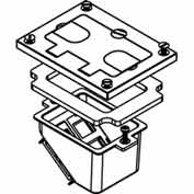 Wiremold 828comtc Floor Box Cover Kit To Allow Recessing Communication Devices, Brass - Pkg Qty 5