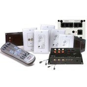 Legrand® AU1003-WH lyriQ™ Multi-Source, 4 Zone Kit w/keypads, Wht, Includes Power Supply