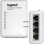 Legrand® DA2304-V1 Gigabit 4-Port Powerline Adapter