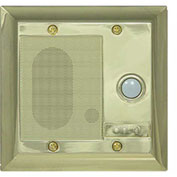 Legrand® F7596-SB Intercom Door Unit, Weather Resistant, Shiny Brass
