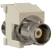 Legrand® KSBNCLA Keystone BNC-to-BNC Connector, Light Almond - Pkg Qty 10