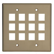 Legrand® WP3212-LA Keystone 2-Gang, 12-Port Wall Plate, Light Almond - Pkg Qty 5