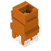 Legrand® WP3450-OR RJ45 Cat 5e Keystone Connector, Orange (M20)