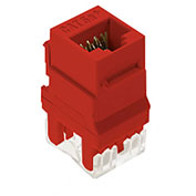 Legrand® WP3450-RE RJ45 Cat 5e Keystone Connector, Red (M20) - Pkg Qty 20