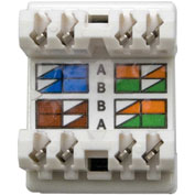 Legrand® WP3450-WH RJ45 Cat 5e Keystone Connector, White (M20) - Pkg Qty 20