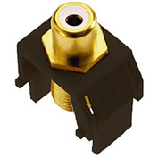 Legrand® WP3461-BR White RCA to F-Connector Keystone Insert, Brown (M20) - Pkg Qty 20