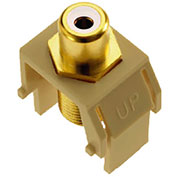 Legrand® WP3461-IV White RCA to F-Connector Keystone Insert, Ivory (M20)