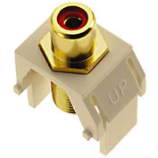 Legrand® WP3462-LA Red RCA to F-Connector Keystone Insert, Light Almond (M20) - Pkg Qty 20