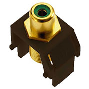 Legrand® WP3463-BR Green RCA to F-Connector Keystone Insert, Brown (M20) - Pkg Qty 20