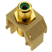 Legrand® WP3463-IV Green RCA to F-Connector Keystone Insert, Ivory (M20)