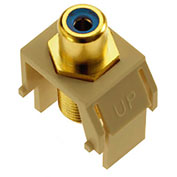 Legrand® WP3464-IV Blue RCA to F-Connector Keystone Insert, Ivory (M20)