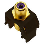 Legrand® WP3466-BR Purple RCA to F-Connector Keystone Insert, Brown (M20) - Pkg Qty 20