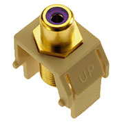 Legrand® WP3466-IV Purple RCA to F-Connector Keystone Insert, Ivory (M20) - Pkg Qty 20