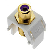Legrand® WP3466-WH Purple RCA to F-Connector Keystone Insert, White (M20)