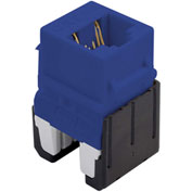 Legrand® WP346A-BE Quick Connect Cat 6a RJ45 Keystone Insert, Blue (M10) - Pkg Qty 10