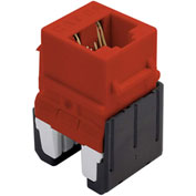 Legrand® WP346A-RE Quick Connect Cat 6a RJ45 Keystone Insert, Red (M10) - Pkg Qty 10