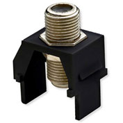 Legrand® WP3479-BK Non-Recessed Nickel F-Connector, Black (M20)