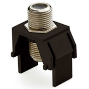 Legrand® WP3479-BR Non-Recessed Nickel F-Connector, Brown (M20) - Pkg Qty 20
