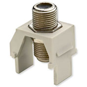 Legrand® WP3479-LA Non-Recessed Nickel F-Connector, Light Almond (M20)
