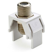 Legrand® WP3479-WH Non-Recessed Nickel F-Connector, White (M20)