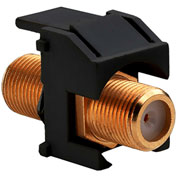 Legrand® WP3480-BK Recessed Gold F-Connector, Black (M20) - Pkg Qty 20