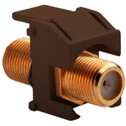 Legrand® WP3480-BR Recessed Gold F-Connector, Brown (M20) - Pkg Qty 20