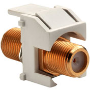 Legrand® WP3480-IV Recessed Gold F-Connector, Ivory (M20) - Pkg Qty 20