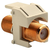 Legrand® WP3480-LA Recessed Gold F-Connector, Light Almond (M20) - Pkg Qty 20