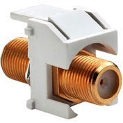 Legrand® WP3480-WH Recessed Gold F-Connector, White (M20) - Pkg Qty 20