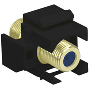 Legrand® WP3482-BK Recessed Self-Terminating F-Connector, Black (M20)