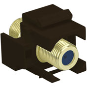 Legrand® WP3482-BR Recessed Self-Terminating F-Connector, Brown (M20)