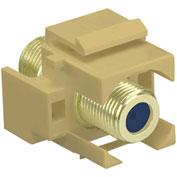 Legrand® WP3482-IV Recessed Self-Terminating F-Connector, Ivory (M20) - Pkg Qty 20