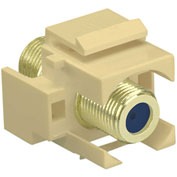 Legrand® WP3482-LA Recessed Self-Terminating F-Connector, Light Almond (M20) - Pkg Qty 20