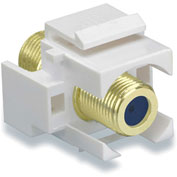 Legrand® WP3482-WH Recessed Self-Terminating F-Connector, White (M20) - Pkg Qty 20