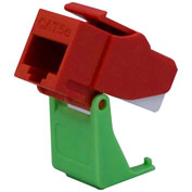 Legrand® WP3550-RE Snap & Go Cat 5e RJ45 T568-A/B Keystone Connector, Red (M20) - Pkg Qty 20