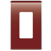 Legrand® WP5001-BD Studio Wall Plate, 1-Gang, Bordeaux