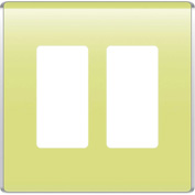Legrand® WP5002-AE Studio Wall Plate, 2-Gang, Aloe