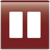 Legrand® WP5002-BD Studio Wall Plate, 2-Gang, Bordeaux