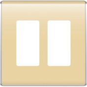 Legrand® WP5002-SD Studio Wall Plate, 2-Gang, Sand