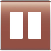 Legrand® WP5002-SP Studio Wall Plate, 2-Gang, Spanish Red
