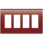 Legrand® WP5004-BD Studio Wall Plate, 4-Gang, Bordeaux