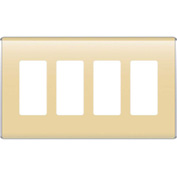 Legrand® WP5004-SD Studio Wall Plate, 4-Gang, Sand